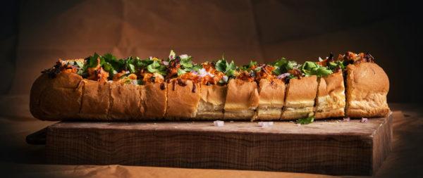 BBQ Chicken Bread Loaf Cheesy Baked Sandwiches | Best Chicken Cheesy Bread