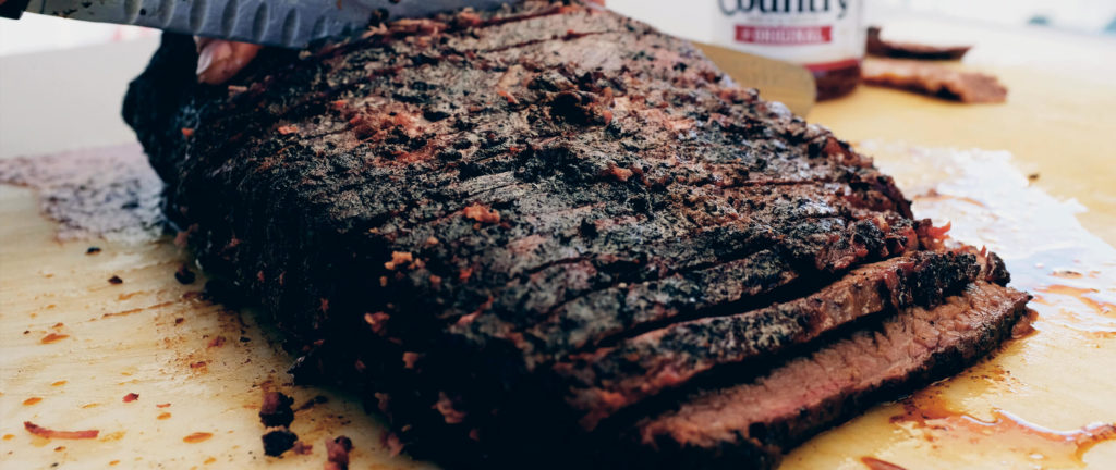 BBQ Competition Smoked Brisket | Sliced Barbecue Meat With Head Country