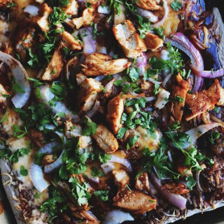 Loaded Barbecue Chicken Pizza | Best Homemade Pizza Recipe For BBQ Chicken