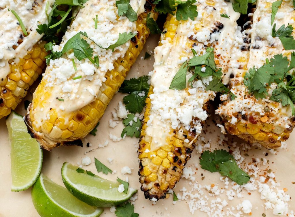 Mexican Street Corn Elote With Cohita Cheese, Cilantro, Lime, And Head Country Seasoning | Fajita Seasoning Best BBQ Recipes | Tailgate or Labor Day Cookout Ideas