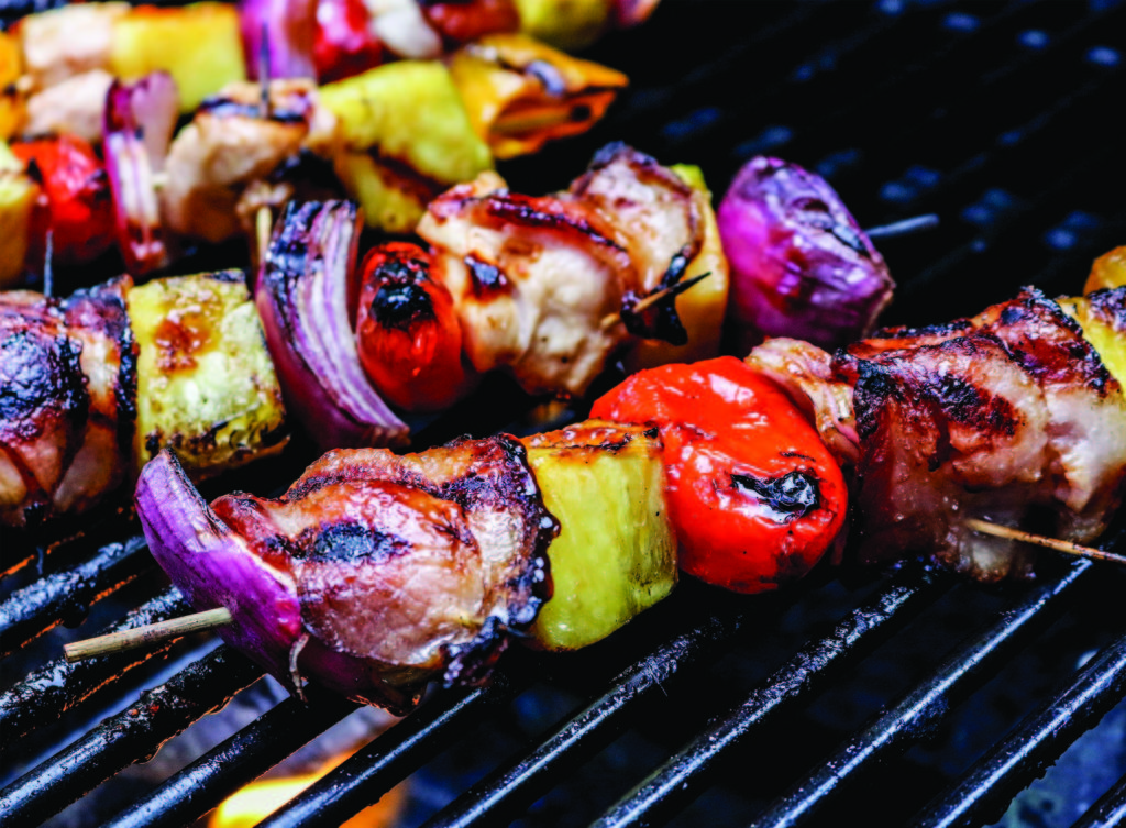 Sweet BBQ Bacon Wrapped Kebobs | Best Grilling For Sweet And Spicy Flavors At Cookout | Pineapple And Peppers