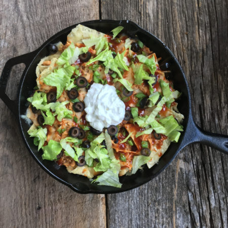 Cast Iron BBQ Nachos | Best Campfire Barbecue Recipes | Spicy And Savory Loaded Nachos