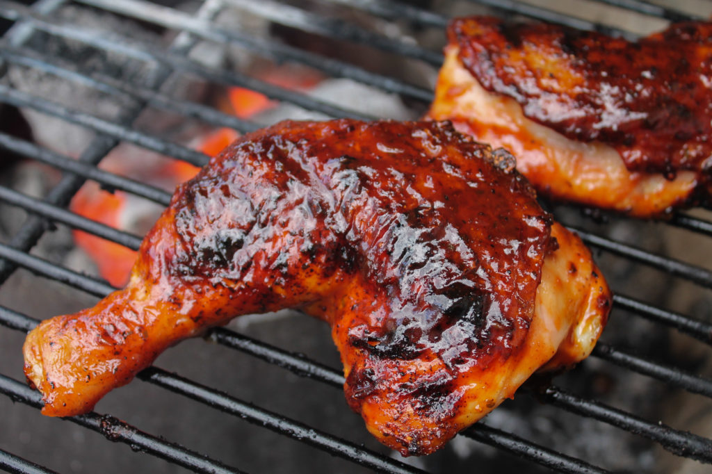 Sausage Stuffed Chicken Leg Quarters   Best Grilling BBQ Sauce Recipes   Tailgating or Summer Holiday Recipes