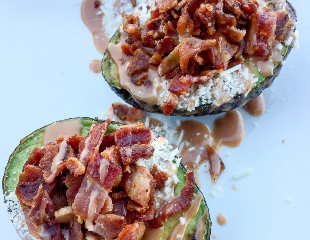 Stuffed And Loaded Avocado | Bacon, Cheese, BBQ, And Avocado | Best BBQ Sauce Recipes | Close Up
