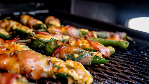 BBQ Bacon Wrapped Jalapeno Poppers | Best Grilling BBQ Recipes | Spicy Stuffed With Cheese