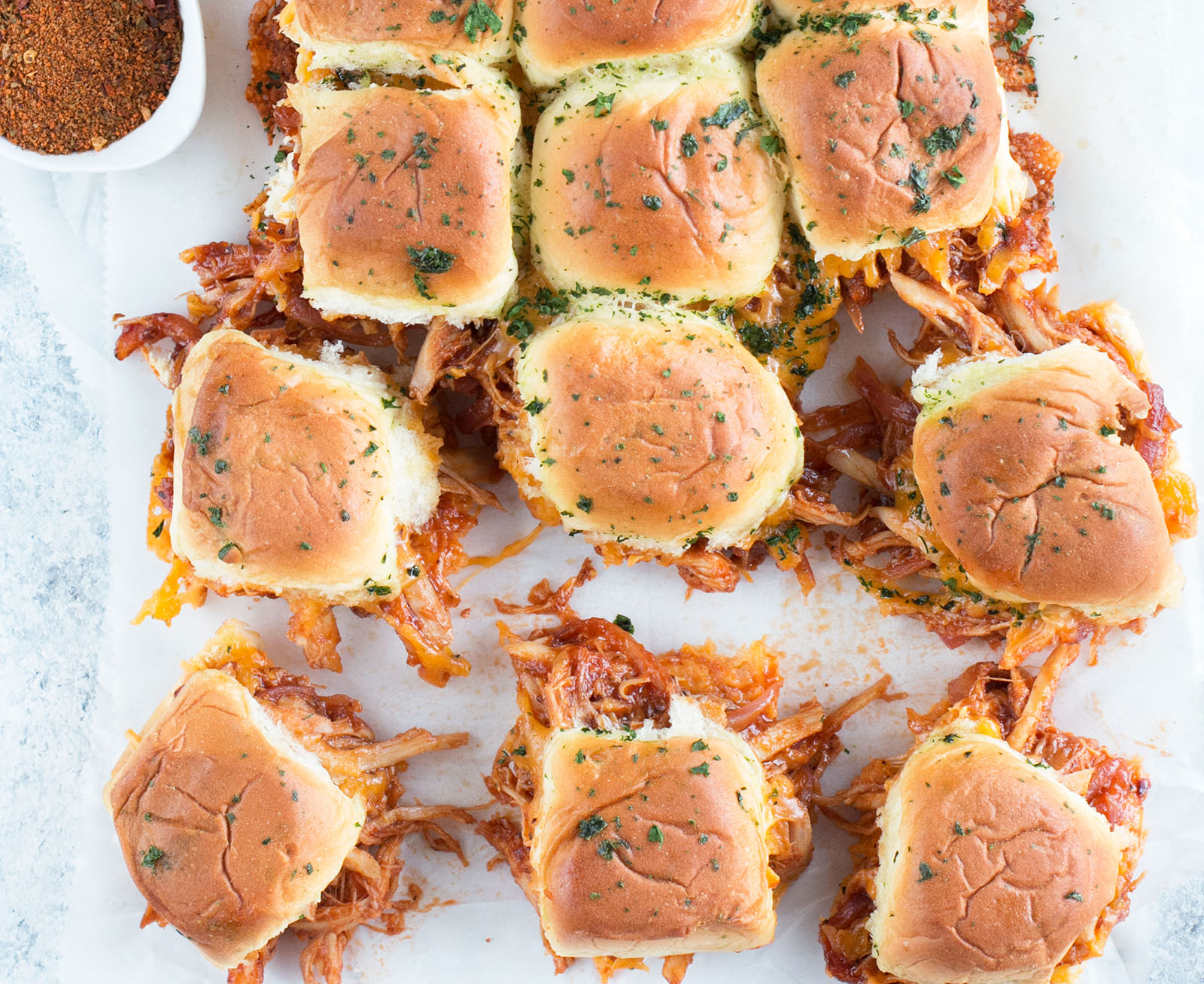 Cheesy BBQ Chicken Pull Apart Sliders | Best BBQ Sandwich Recipes | Best Appetizers