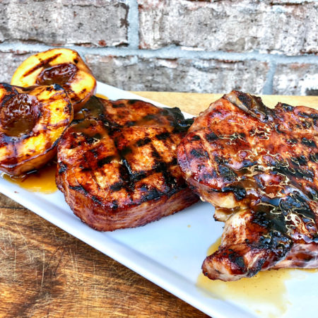 Grilled BBQ Pork Chops with Peach Glaze | Easy Grilled Dinner Ideas | Best BBQ Glaze Recipes
