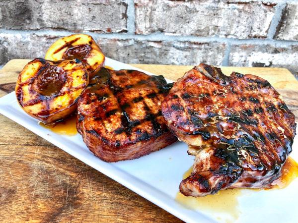 Grilled BBQ Pork Chops with Peach Glaze   Easy Grilled Dinner Ideas   Best BBQ Glaze Recipes