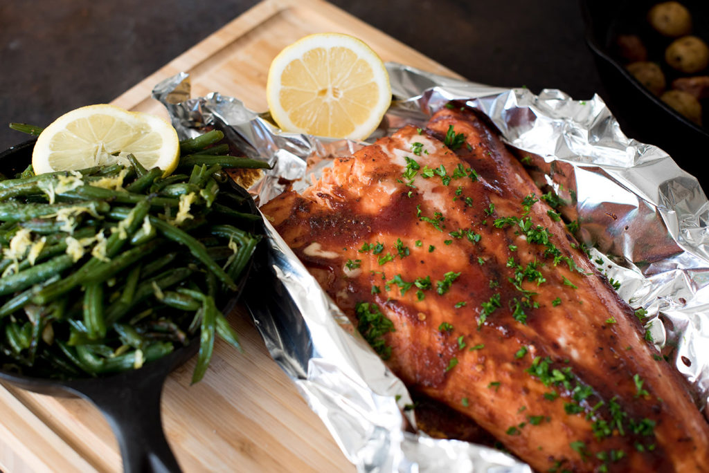 Wood Fired BBQ Salmon With Green Beans | Best BBQ Seafood Recipes | Healthier and Lighter BBQ Recipes